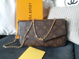 Newest LUXURY Bags Fashion women Designer Shoulder bags High quality brand bag Size 21 11 2 cm Model 61276