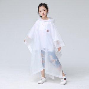 65T8l sakQf Einwegbeutel für Schulranzen Jungen Mantel für Mädchen ältere Kinder Cloak Schüler Kinder wasserdicht transparenten Regenmantel verdickt
