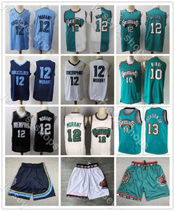 2019/20MemphisGrizzlies Ja 12 Morant Stadt Basketballjerseys Weinlese VancouverShareef Abdur-Rahim Reeves 50 Shirts