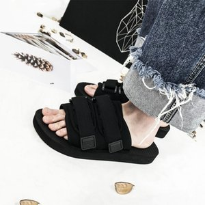 Internet celebrity fashion brand ins slippers men's summer slippers ulzzang Harajuku couple sandals Chen Guanxi Yu Wenle