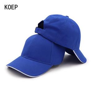 Простой высокий регулируемый Caps Качество Твердая Sandwich Baseball папа Мужчины Casquette Команда Хлопок 100 Cap Женщины Koep Hat Пик BvOLv