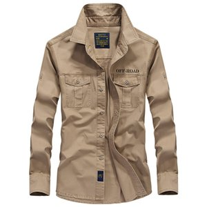 Hombres al aire libre ocasional camisa de algodón Herramientas De Manga Larga flojos Uniforme Casual camisa del negocio camisas de manga larga para hombre