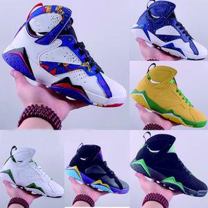2020 New 7 Basketball Chaussures High Cut GS Sport Chaussures Blanc Noir Wearable en ligne Vert Bleu coloré pour les hommes