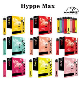 2020 Hyppe Max descartável Dispositivo 1500 Puffs 5ML pré-introduzida Vape Pods bateria 650mAh 10 cores aviliable Puff Xtra Além disso Hyppe Bar