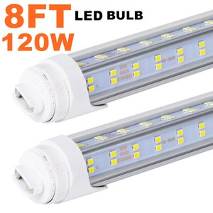 20Pack R17D HO 8FT LED Tubes, Rotate V Shaped, 120W (Replacement for F96T12 CW HO 150W), Cool White 6500K Clear Lens,T8 T10 T12 Replacement
