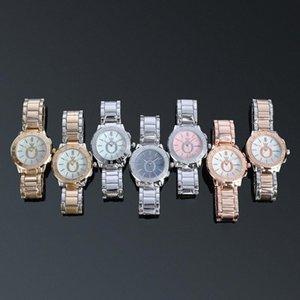 Pandora Luxus-Frauen-Uhr-Edelstahl-Quarzuhr Damenuhr Geschenk Rose Goldarmband Kleider Uhren Uhren Art und Weise Damen