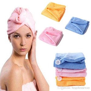 Microfiber Magic Shower Caps Women Hair Drying Turban Wrap Cap Hat Cap Style Quick Dry Towel Girls Bathing Makeup Dryer Towel Bh2212 Tqq