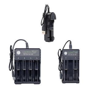 18650 3.7V şarj edilebilir Lityum pil şarj için USB 18650 Pil Şarj Siyah 4 Yuvaları AC 110V 220V Dual