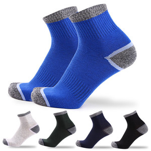 5 pairs   lot = 10 pieces Color Matching Mans Fashion Socks Cotton College Wind Breathable Male Sports Socks
