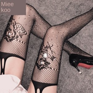 Мед Sling колготки секси секси колготки женского искушения Sling носков чистые носки горячих бурения полых рыбацкие свободно эластичные чулки