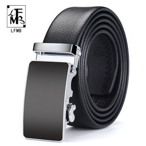 [LFMB]Men Belt Automatic Genuine Leather Luxury Black Belt Men's Belts Automatic Buckle High Quality belt cummerbunds Male C0926