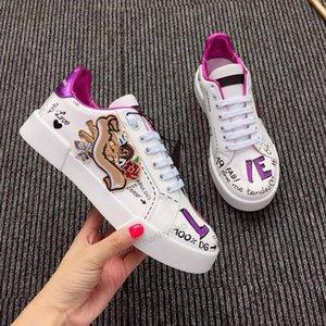 Dolce & Gabbana DG shoes Hot Nouveau Design Chaussures Femmes Повседневный Chaussures En Cuir крючком Букле Леже Respirant Режим Chaussures Sneaker