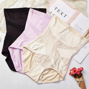z3t9z Thin high waist pants Silk pants women's postpartum hip-lifting body- binding belly Underwear shaping Ice body-shaping underwear