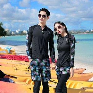 smb8O 2020 neue koreanische gedruckte Paar Hülsen lange im Freien Schnorcheln Surfen Qualle Taucheranzug Paar Taucheranzüge Anzug