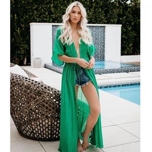 Cover-ups Summer Cardigan Rash Guards Designer Holiday Bikini Dress Women Lace Long Bikini