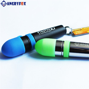 Angryfox K1 K1S LED Mini Key chain waterproof Torchlight Stainless Steel with RGB Colorful Dimming Caps