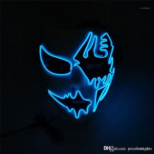 Street Dance Hand Painted Funny Dress Party LED Luminous Mask Unisex And Free Size Halloween Mask
