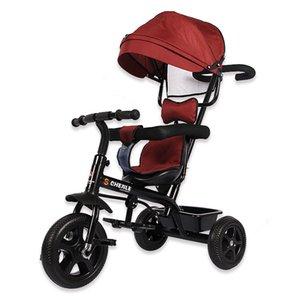 Infant Triciclo pieghevole rotante sede Passeggino 3 biciclette ruota di bicicletta per bambini a tre ruote Passeggino bambino Trolley 6M-6Y