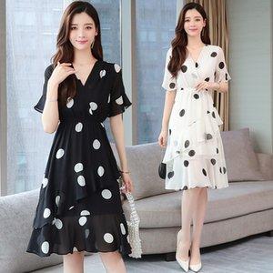 gi9vQ 2020 Fairy французской ниши Очень новые летние шифоновая точкой шикарных даст платье феи супер Slimming польки