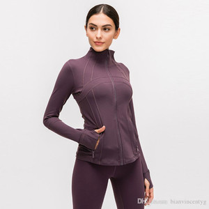 Long Sleeve Designer T-shirts Women Yoga Gym Compression Tights Women's Sports Wear for Fitness Yoga Training Zipper Jacket Outfits Exe
