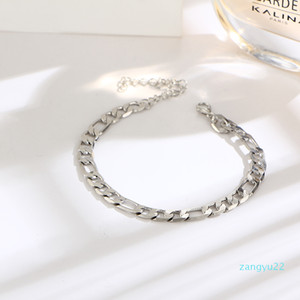 Wholesale -Fashion Summer Foot Chain Maxi Chain Ankle Bracelet Gold Anklet Halhal Barefoot Sandals Beach Feet Jewelry Accessories