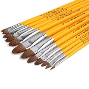 Yüksek dereceli kili boyama b, B dil tepe satır kalem toptan akrilik kalem Boyama kalem Sulu gouache boyama