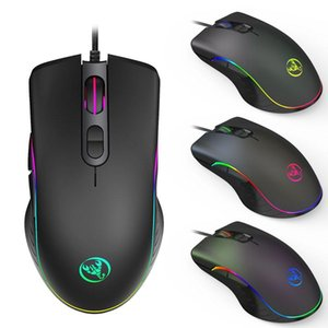 Wired Gaming Mouse 7 Buttons Four-speed 6400DPI Optical RGB Backlit and ergonomics design For computer laptop game