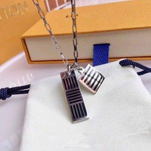 316L pendentif en titane acier Collier avec des bijoux de charme émail noir braceelt mis PS5109 livraison gratuite