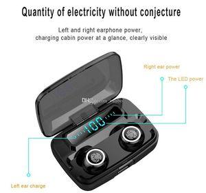 M11 TWS Earphones Wireless Bluetooth Waterproof Headset Stereo LED Display With 3600MAh Charging Box Retail Box
