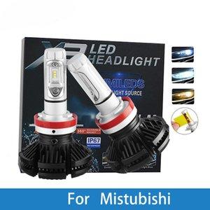 LED Car Headlight Bulb H4 H7 H3 12V Auto Lamp For Mitsubishi Outlander Nimbus Montero Mirage Magna Lancer Grandis Galant Expo