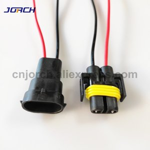 Home Improvement 1set 2 pin H8 H11 Adapter Wiring Harness Car Auto Wire Connector with 20cm cable For HID LED Headlight Fog