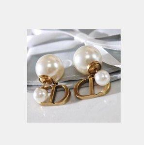 여성 도매 CD의 고급 디자이너 실버 보석 진주 귀걸이 2,019 순수 천연 진주 보석 스터드 귀걸이