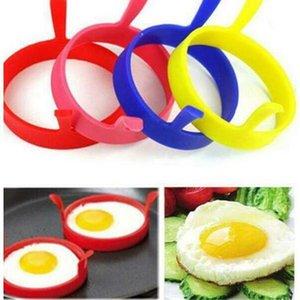 Round Fry Egg Bague Pancake Pocher Moule silicone oeuf Ringf Moules Cuisine ronde de cuisson outils Anneaux crêpes anneau de cuisson Accessoires moule HWD897