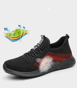 Safety Shoe Steel Toe Cap Mens Sport Outdoor Working Hiking Trail Breathable Shoes Protective Footwear Trainers Blast Anti-piercing Boots