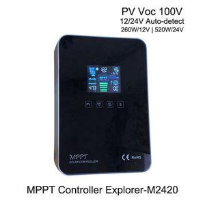 100V Solarpaneel Eingang MPPT 12V24V 20A Solar-Laderegler Touch-Screen-Display-Controller photovoltaische Stromerzeugung