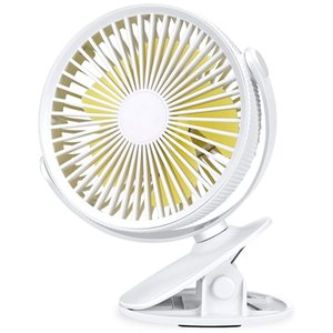 Clip on Fan Stroller Fan Rechargeable Battery Operated Portable Desk Powerful 3 Speeds 360 Degree Rotatable Personal
