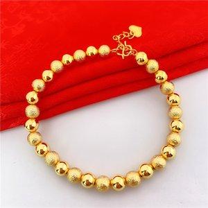 GlkPL Fahion europäische Währung Glück Armband Perle lange nicht verblassen Ornament Vietnam alluvialen Gold s kou matt glatt und weißen Perlen armschm