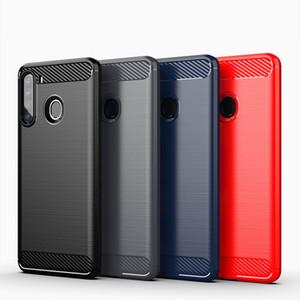 Углеродного волокна зерна Вернуться телефон чехол для Samsung Galaxy A01 ядра A21 A11 A01 A21S A31 A81 A91 A21 A41 Матовый ТПУ
