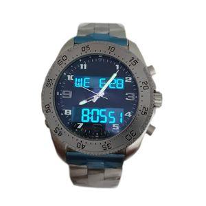 Mens Profissional Mens Dual Zone Relógio Eletrônico Pointer Display Montre de Luxe Relógios de Pulso Mens Designer Relógios Luminosos