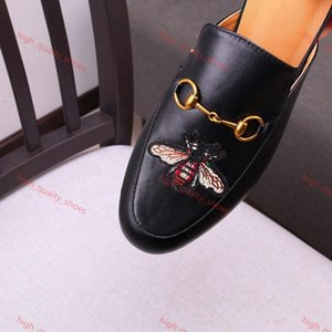 2020 new lusso Women Summer Slipper Princetown Slippers Bees Snake Mules Loafers Genuine Womens Leather Flats sneakers