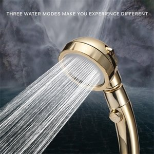 360 Degrees Rotating Adjustable Saving 3 Mode Water Pressure Shower Head With Stop Button C0926