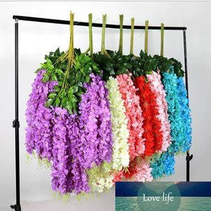 1.1 Meter Thick Artificial Flowers Artificial Wisteria Vine 6 Colors Decorative Bouquet Garlands for Wedding Party Home Dec.