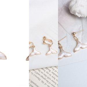 인어 시리즈 인 인터넷 유명 인사가 한국어와 귀걸이 간단한 돌고래 꼬리 치기 활공 귀걸이 귀 클립 5kRxM 인어 공주