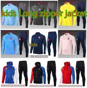 20 21 Ajax Paris enfants soccer costume de formation de football Survêtement veste Long 2019 2020 2021 réelle de formation de veste de football enfant madrid