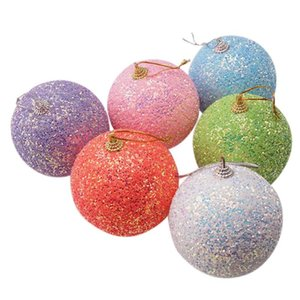 8cm Boule de Noël Ornements de mousse d'arbre de Noël Pendentif pour Shopping Mall Showcase Home Decoration