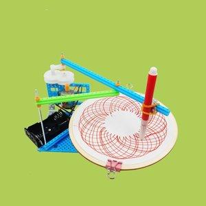 Yeni DIY Elektrik Plotter Çizim Robot Kiti Fizik Bilimsel Deney Seti Yaratıcı Buluşlar Modeli çizim oyuncaklar birleştirin