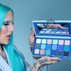 Newest J Пятизвездочка Blue Blue Blood Palette Makeup Cremated 18 Цвет Палитра Теней для теней Шиммер Матовый Высокое Качество DHL Бесплатная Доставка