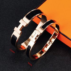 Luxury Designer Jewelry Women Bracelets Stainless Steel Bangles Enamel Charm Bracelets Bangle Letter Buckle Bracelets For Women