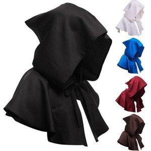 Halloween Morte Cabo curto com capuz Assistente Manto Witch Medieval Capes Unisex Cosplay Morte Cloaks Halloween Costume Decoração FWF1067