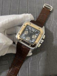 Vente à chaud Quartz OS Mouvement 1884 Navitimer Montre chronographe Homme saphir cadran noir inoxydable Bracelet homme Montre Montre Homme